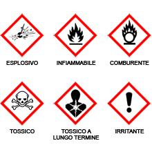 I simboli che identificano sostanze chimiche pericolose